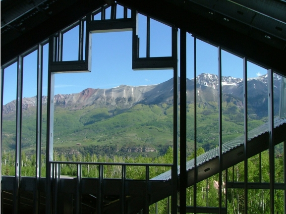 View of the San Juans through Upper Floor windows in the east tower